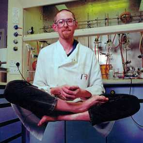 Simon working as a chemist